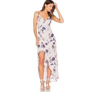 ASTR the Label Penelope Maxi Dress Purple Floral